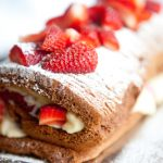 Chocolate and Strawberry roulade recipe