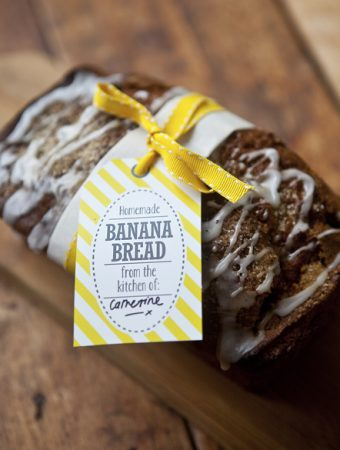 Banana Bread Recipe and Gift Labels