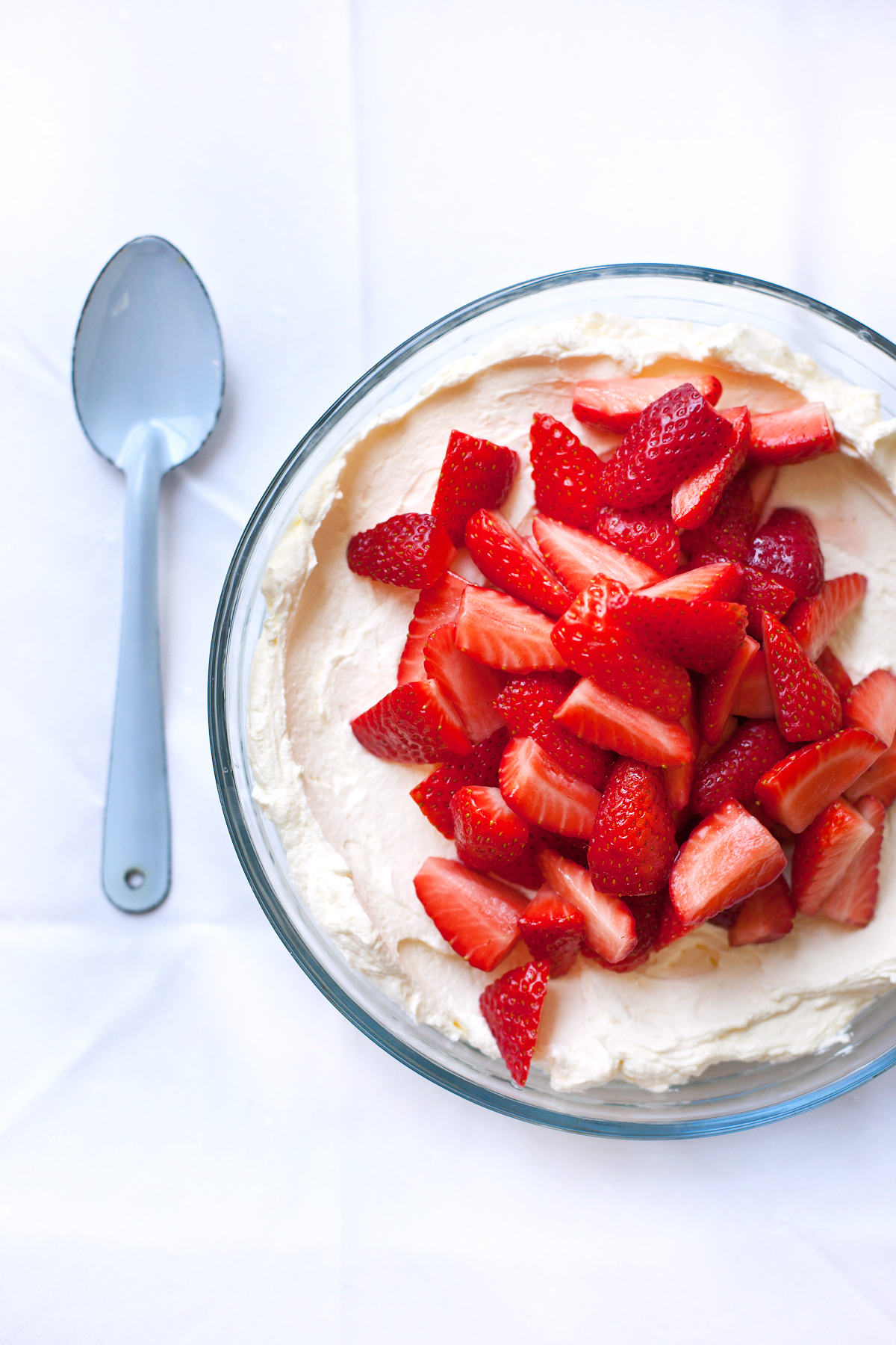Strawberries and Cream Dessert with Mascarpone Cheese