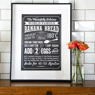 Banana Bread Poster in Kitchen