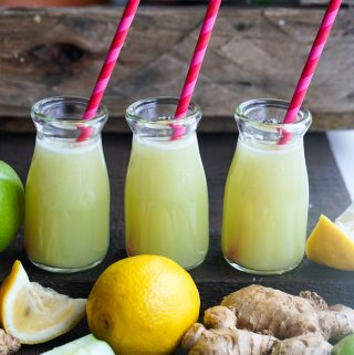 Homemade Ginger shots with ingredients used