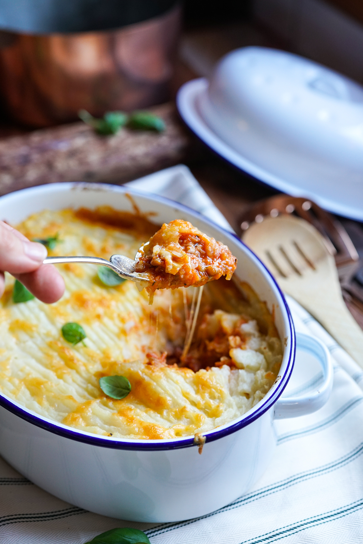 Lentil Cottage Pie with Cheesy Topping