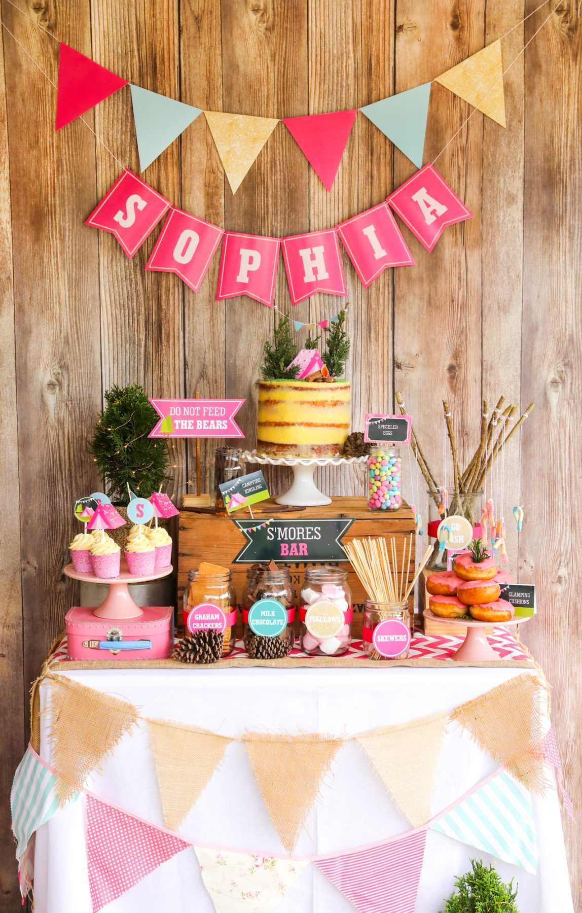 Glamping Party Decorations