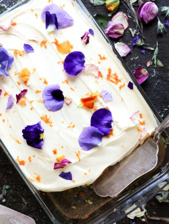 Naartjie and Vanilla Wildflower Cake
