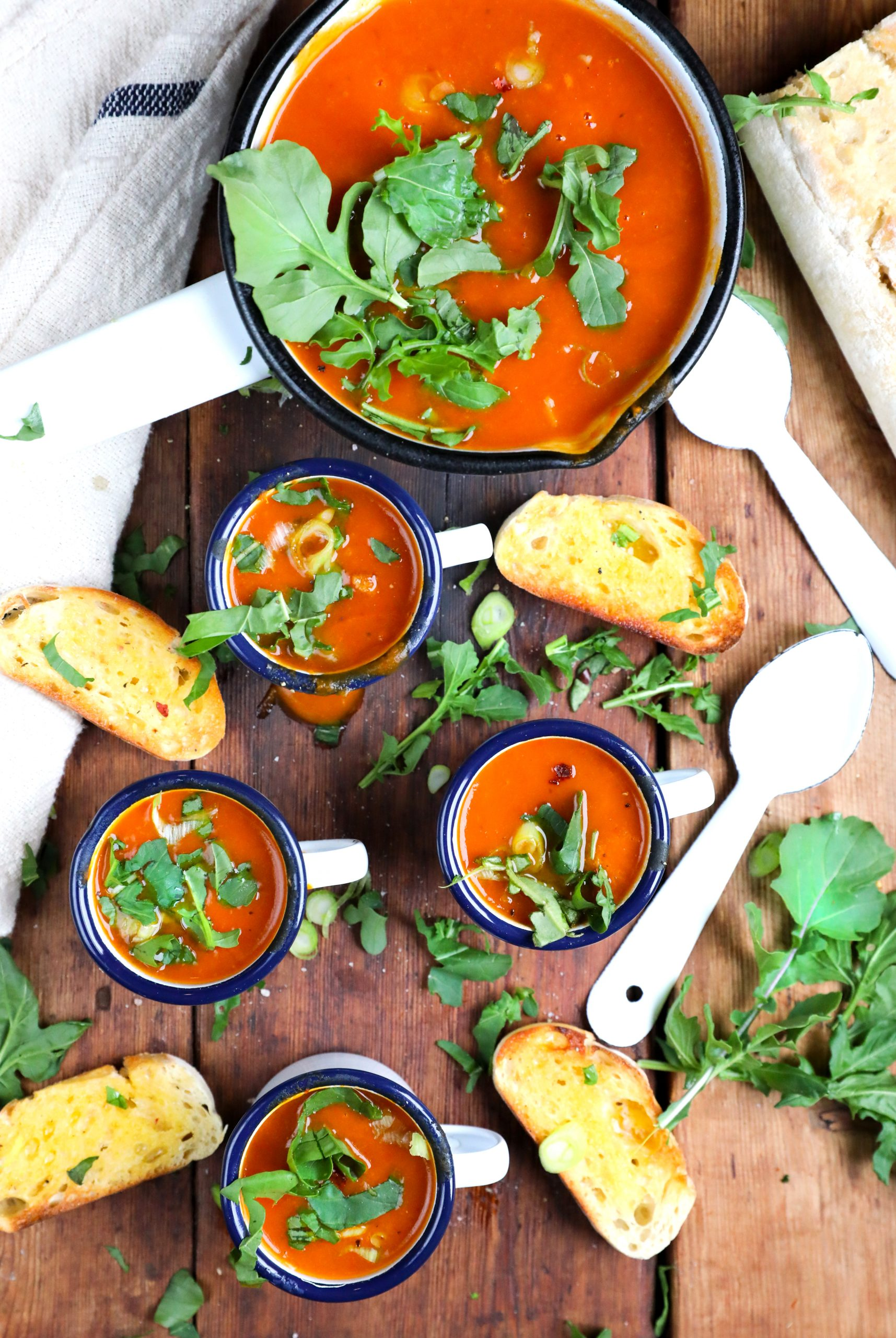 Roasted Butternut and Red Pepper Soup recipe