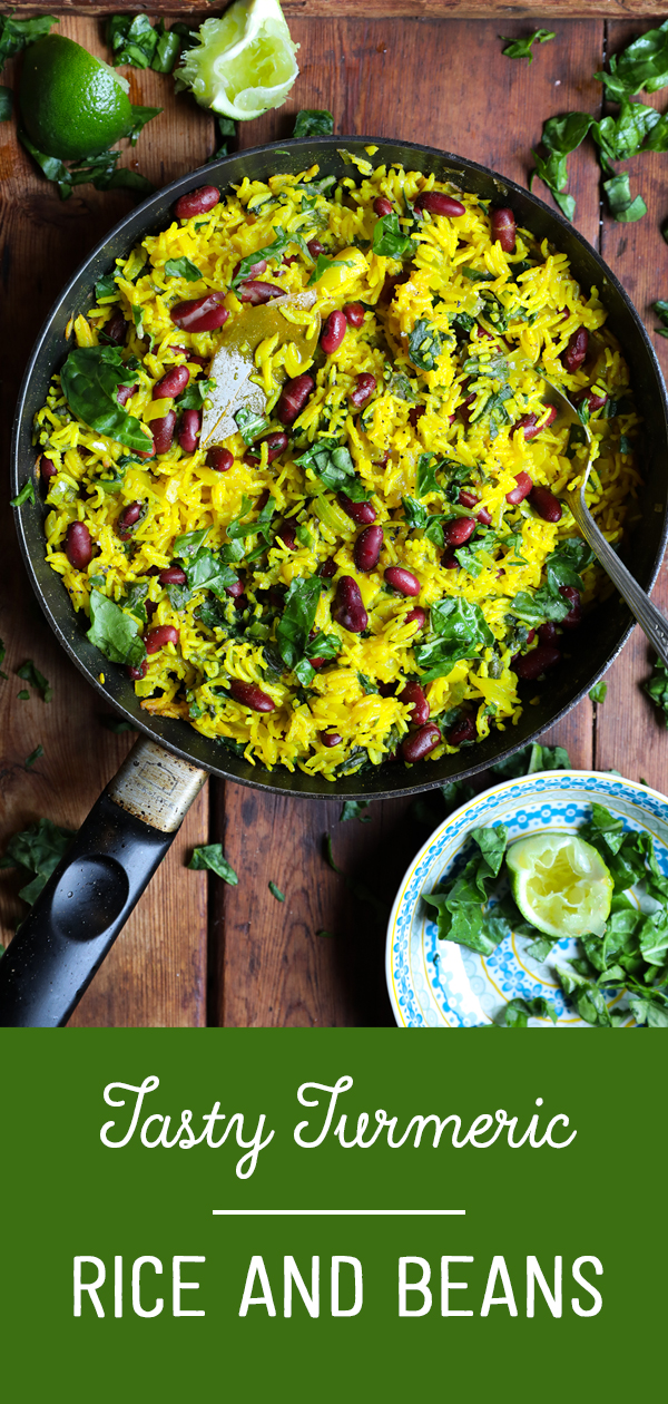 One Pan Turmeric Rice and Beans